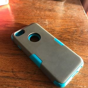 iPhone 6 or 6S Teal blue and gray iPhone case